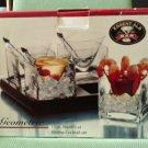 Essentials For The Bar GEOMETRIC 13 pc. Martini or Shrimp Cocktail Set - MODERN!