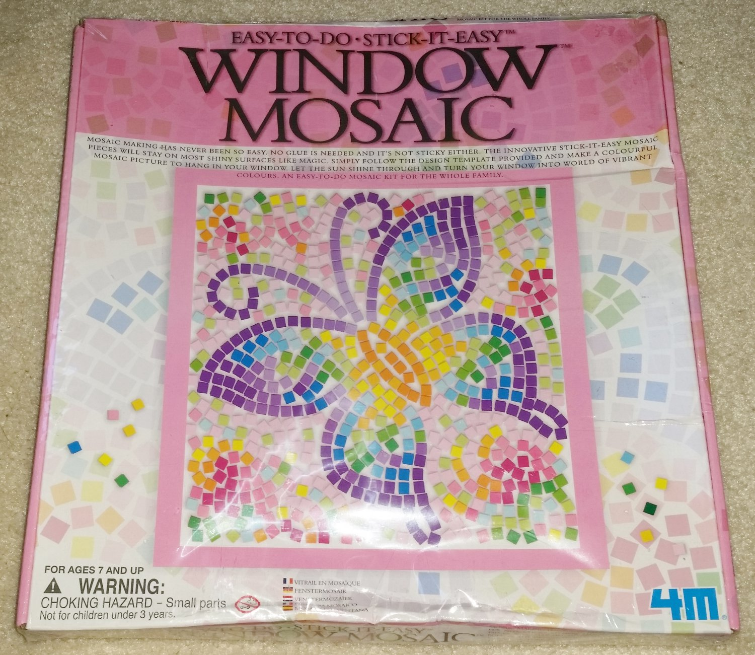 Easy To Do - Stick It Easy Window Mosaic Butterfly 04526B - 4M!