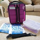 Arctic Zone High Performance Expandable Lunch Pack with Ice Walls, Purple-STAYS COLD for 12 HOURS!