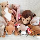 TY BEANIE BABIES - RETIRED - LOT #1 of 8 WILDLIFE ANIMAL BEANIES - NEW WITH TAGS!