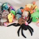 TY BEANIE BABIES - RETIRED - LOT of 8 INSECT & REPTILE BEANIES #1 - NEW WITH TAGS!