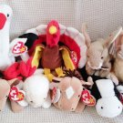 TY BEANIE BABIES - RETIRED - LOT of 8 FARM ANIMAL BEANIES #1 - NEW WITH TAGS!