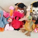 TY BEANIE BABIES - RETIRED - LOT of 8 BIRD BEANIES #1 - NEW WITH TAGS!