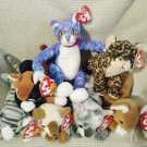 TY BEANIE BABIES - RETIRED - LOT of 7 CAT BEANIES #2 - NEW WITH TAGS!
