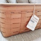 Longaberger 2008 WB Small Rectangle Storage Basket with Insert, Divider & Lid - New w/ Tag!