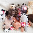 TY BEANIE BABIES - RETIRED - LOT #3 of 8 WILDLIFE ANIMAL BEANIES - NEW WITH TAGS!