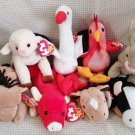 TY BEANIE BABIES - RETIRED - LOT of 8 FARM ANIMAL BEANIES #2 - NEW WITH TAGS!
