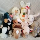 TY BEANIE BABIES - RETIRED - LOT of 8 FARM ANIMAL BEANIES #3 - NEW WITH TAGS!