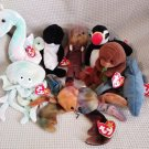TY BEANIE BABIES - RETIRED - LOT of 8 SEA LIFE BEANIES #1 - NEW WITH TAGS!