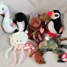 TY BEANIE BABIES - RETIRED - LOT of 8 SEA LIFE BEANIES #2 - NEW WITH TAGS!