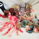 TY BEANIE BABIES - RETIRED - LOT of 8 SEA LIFE BEANIES #3 - NEW WITH TAGS!