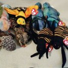 TY BEANIE BABIES - RETIRED - LOT of 7 INSECT & REPTILE BEANIES #3 - NEW WITH TAGS!
