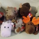 TY BEANIE BABIES - RETIRED - LOT of 8 BIG GAME BEANIES #1 - NEW WITH TAGS!