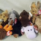 TY BEANIE BABIES - RETIRED - LOT of 8 BIG GAME BEANIES #2 - NEW WITH TAGS!