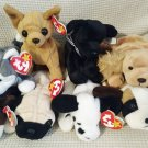 TY BEANIE BABIES - RETIRED - LOT of 7 DOG BEANIES #2 - NEW WITH TAGS!