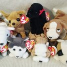 TY BEANIE BABIES - RETIRED - LOT of 8 DOG BEANIES #3 - NEW WITH TAGS!