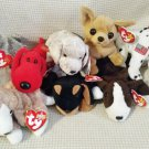 TY BEANIE BABIES - RETIRED - LOT of 8 DOG BEANIES #4 - NEW WITH TAGS!