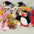 TY BEANIE BABIES - RETIRED - LOT of 8 BIRD BEANIES #2 - NEW WITH TAGS!