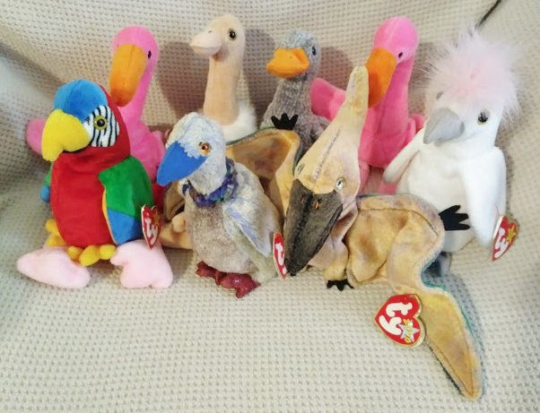 TY BEANIE BABIES - RETIRED - LOT of 8 BIRD BEANIES #4 - NEW WITH TAGS!