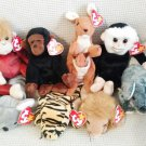TY BEANIE BABIES - RETIRED - LOT of 8 ZOO ANIMAL BEANIES #3 - NEW WITH TAGS!