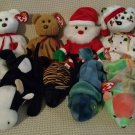 TY BEANIE BABIES - RETIRED - LOT of 8 MISC. ANIMAL BEANIES #1 - NEW WITH TAGS!