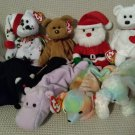 TY BEANIE BABIES - RETIRED - LOT of 8 MISC. ANIMAL BEANIES #3 - NEW WITH TAGS!