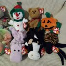 TY BEANIE BABIES - RETIRED - LOT of 8 MISC. ANIMAL BEANIES #4 - NEW WITH TAGS!