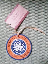 DEMDACO Folk Heart Winter Celebrate Life Snowflake Medallion Ornament by Kathy Killip - PERSONALIZE!