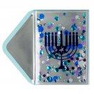Niquea.D Papyrus Metallic Menorah Hanukkah Cards - Lot of 3 - GORGEOUS!