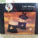 DISNEY CAFE MICKEY Sugar & Creamer Set by Selandia Designs featuring Mickey Mouse - New in Box!