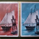 Vintage LORD BALTIMORE Playing Cards Two Decks LINEN FINISH Ships on Sea Design!