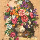 """Dimensions Needlepoint Kit - """"Floral Urn"""" Bouquet #2457 designed by Maxine Johnston from 1997!"""