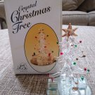 LS Arts Crystal Christmas Tree Figurine On Mirror Venezia Art Glass Collection - NIB!
