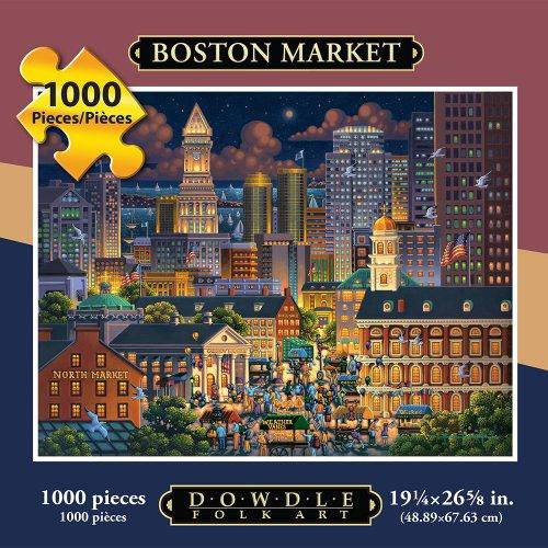 Boston Market 1000 Piece Jigsaw Puzzle by Dowdle Folk Art - Made in the USA!