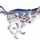 """Pack Leader"" by Sally J. Smith; 1000 Piece Wolf Shaped Puzzle by F.X. Schmid - OVER 3' LONG!"