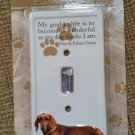 "Ceramic ""Dachshund"" Toggle Light Switch Plate Cover by Encore!"