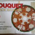 "Bouquet Gingerbread Man Tree Skirt Latch Hook Kit KT240 - 33"" Round - New in Box!"