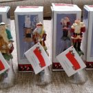 "Novelino ""Christmas Thru the Ages"" - Santa Christmas Bells - Set of Six (6) in Original Boxes!"