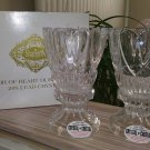 Godinger Shannon Crystal Pair Heart Hurricanes 24% Lead Crystal Votive & Taper Candle Holders!