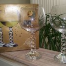 Cristal D'Arques-Durand Bourgogne Wine Millennium 2000 Crystal Glasses - Made in France - New!