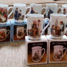 Norman Rockwell Museum Porcelain Cups Mugs - SET of 11 - from 1982 - NEW in BOX!