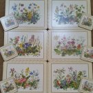 VINTAGE Pimpernel Meadow Flowers Placemat Set of 6 & Matching 6 pc. Coaster Set - NEW in BOX!