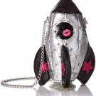 Betsey Johnson Gimme Some Space Rocket Ship Mini Crossbody Purse - New with Tags!