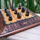 Tic Tac Toe Noughts & Crosses Board Game - Animal Pieces - Zebra & Elephant - Made in South Africa!