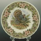 "Queen's Myott by Churchill 8"" SALAD / Side Plates Thanksgiving Turkey Multi-Color, Set of 4"