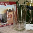 Vintage Park Avenue 16 ounce Glass Beer Mug with a Bell - UNIQUE & RARE!