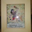 SKG Artworks-Barbara Olsen 'Days of the Week Children'-'Wednesday's Child is Full of Laughter'!