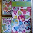 Entertaining with Caspari Bridge Playing Cards Gift Set, Jumbo Type, Butterflies!