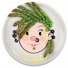 Fred MS FOOD FACE Ceramic Dinner Plate by Fred & Friends!