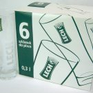 LECH Pilsner Beer Glasses from Lech Browary Wielkopolski Brewery - 0.5L - Set of 6 - New!